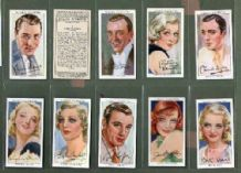 Tobacco cards Cigarette cards set Film Stars 1938